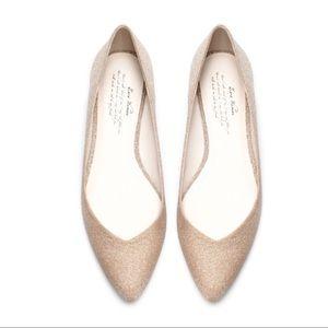 Zara Glitter Ballet Flats